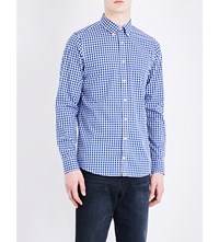 Tommy Hilfiger Scott Checked Slim Fit Cotton Shirt Navy Blue