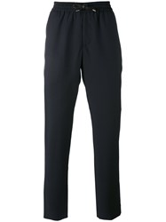 Bernardo Giusti Fitted Trousers Men Polyester Mohair Wool 46 Black