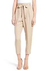 Astr Women's Celine High Rise Crop Pants
