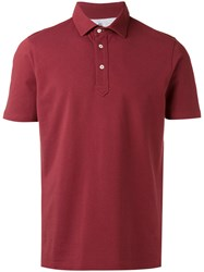 Brunello Cucinelli Short Sleeve Polo Shirt Red