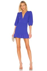 Amanda Uprichard Gala Mini Dress Blue