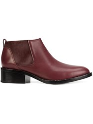 3.1 Phillip Lim Studded Chelsea Boots Red