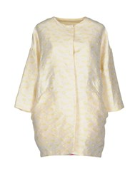 Femme By Michele Rossi Overcoats Ivory
