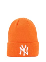 New Era League Essential Cuff Knit Beanie Hat Orange