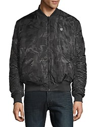 Cult Of Individuality Reversible Camo Bomber Jacket Black Camo