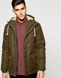 Esprit Parka With Borg Lined Hood Green