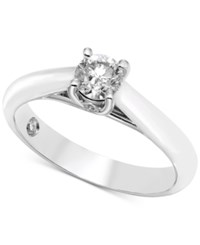 Macy's Diamond Solitaire Engagement Ring 1 2 Ct. T.W. In 14K White Gold