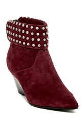 Belle By Sigerson Morrison Wayne Bolt Cuff Wedge Bootie Red