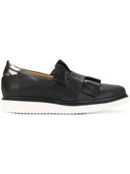 Geox Frilled Design Flat Loafers Black