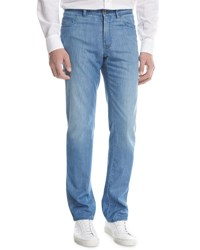 Brioni Straight Leg Denim Jeans Light Wash