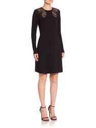 Elie Tahari Angelica Merino Wool Sweater Dress Black