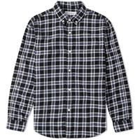 Head Porter Plus Tartan Check Shirt Blue