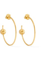 Maria Black Orion Maxi Gold Plated Hoop Earrings