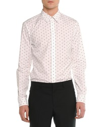 Givenchy Cross Printed Woven Shirt White