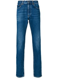 Givenchy Jeans With Red Rear Logo Men Cotton 32 Blue