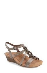 Women's Cobb Hill 'Hannah' Leather Sandal Pewter Leather