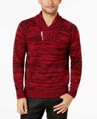 Inc International Concepts Men's Two Tone Shawl Collar Sweater Created For Macy's Light Grey Heather