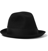 Borsalino Rabbit Felt Fedora Hat Black