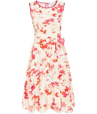Cc Petite Sheer Detail Floral Dress Multi Coloured
