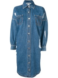Moschino Denim Shirt Dress Blue