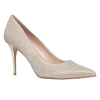 Carvela Goalie Stiletto Heeled Court Shoes Gold