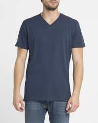 Roscoe Navy Tyler V Neck T Shirt Blue
