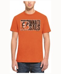 47 Brand '47 Men's Cincinnati Bengals Wordmark Scrum T Shirt Orange