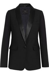 J.Crew Hugh Satin Trimmed Wool Blazer Black