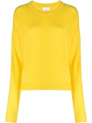 Allude Crew Neck Jumper Yellow
