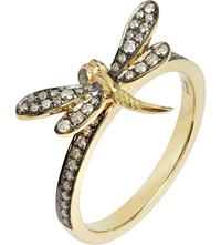 Annoushka Love Diamonds 18Ct Yellow Gold Dragonfly Ring