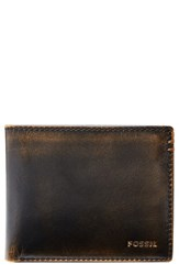 Fossil Wade Leather Wallet Black