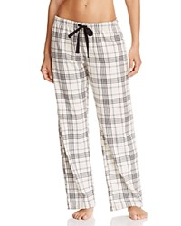 Pj Salvage Plaid Twill Pants Natural