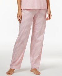 Nautica Striped Pajama Pants Heather Pink Stripe