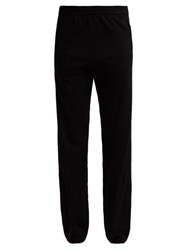 Givenchy Logo Embroidered Cashmere Track Pants Black