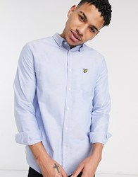 Lyle And Scott Oxford Shirt In Light Blue