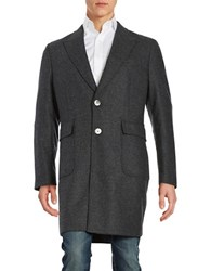 Hardy Amies Two Button Wool Coat Charcoal