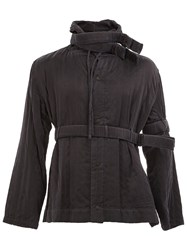 Craig Green Belted Hooded Jacket Black