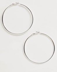 French Connection Classic Hoop Earrings Silver