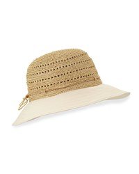 Kessy 8 Raffia And Canvas Sun Hat Natural Shell Natural White Helen Kaminski
