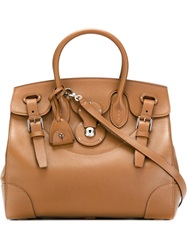 Ralph Lauren Large Buckle Detail Tote Brown