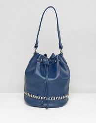 Yoki Fashion Chain Detail Shoulder Bag Indigo Blue