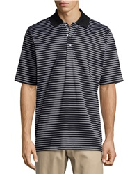 Bobby Jones Palmer Striped Jersey Polo Shirt Black