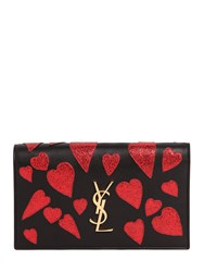 Saint Laurent Medium Kate Monogram Hearts Clutch