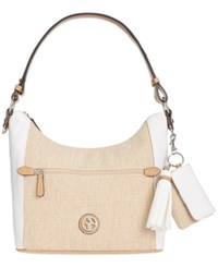 Giani Bernini Contrast Hobo Only At Macy's White Natural