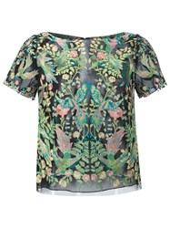 Marchesa Embroidered T Shirt Green
