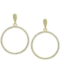 Giani Bernini Cubic Zirconia Pave Gypsy Hoop Earrings In 18K Gold Plated Sterling Silver Only At Macy's