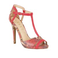 Ravel Mobile Stiletto Heeled Sandals Coral