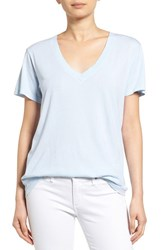 Women's Splendid V Neck Tee Crystal Blue