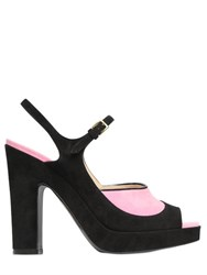 Moschino 115Mm Suede Sandals