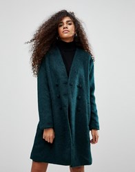 B.Young Double Breasted Coat Deep Teal Green